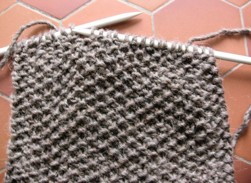 Finir tricot point de riz