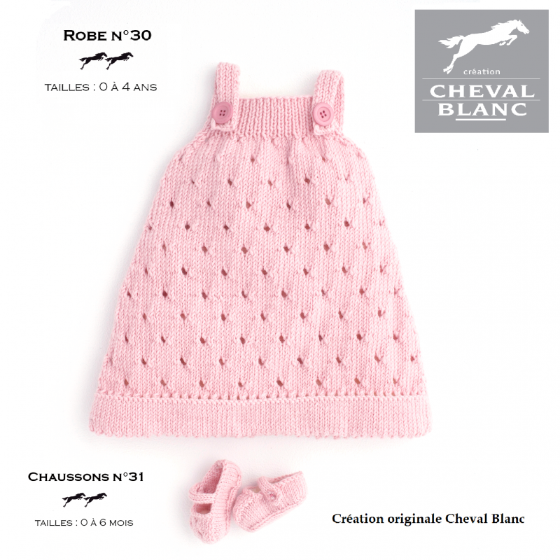 Robe tricot bebe explication