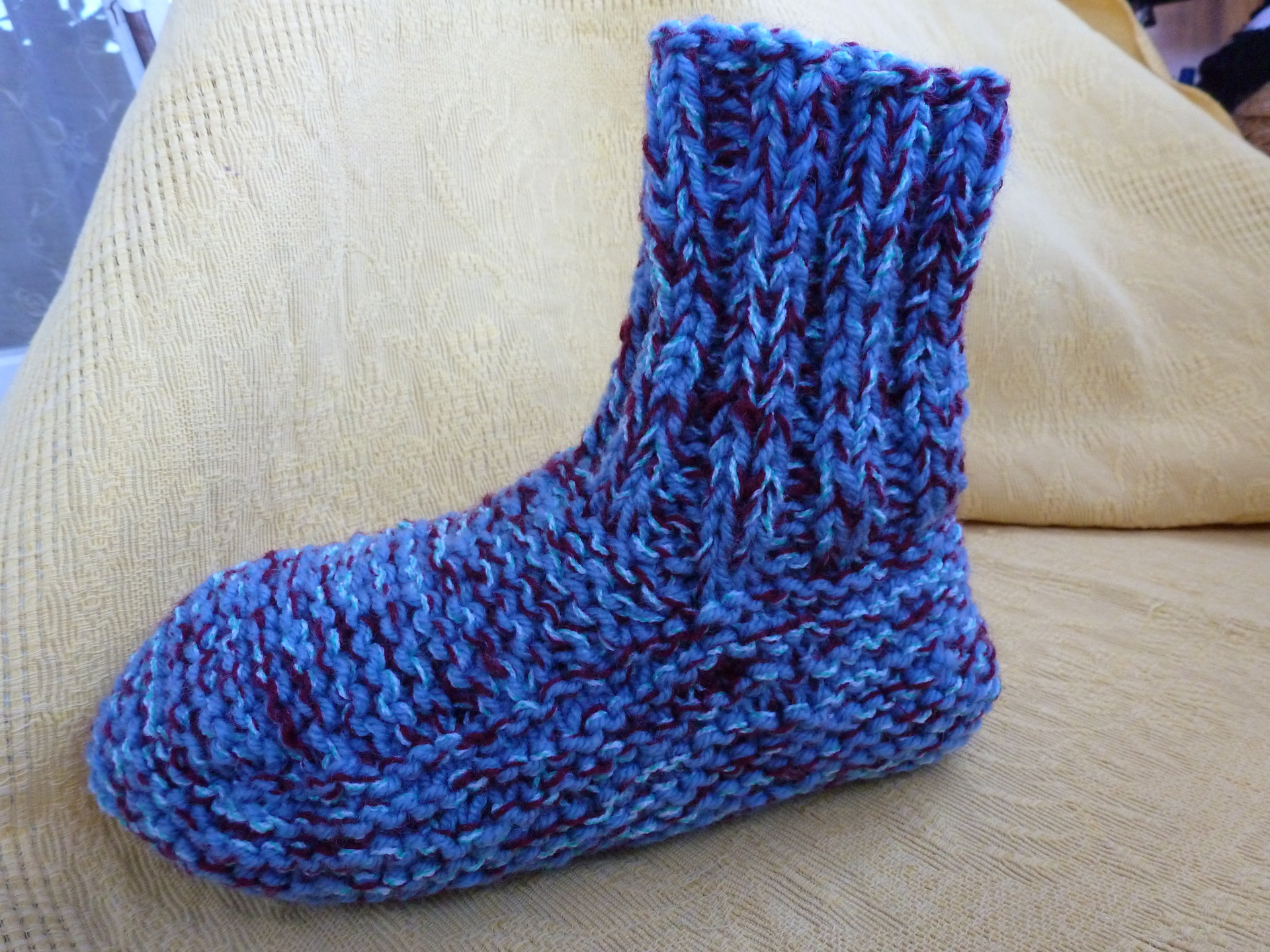 Tricot chausson chaussette