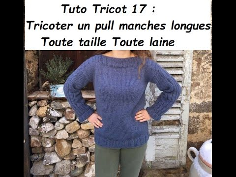 Tricoter manches pull