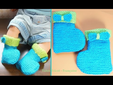 Tricot layette point mousse