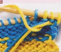 Tricot 2 couleurs rayures verticales