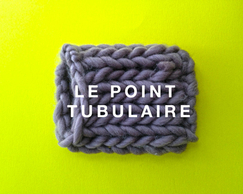 Point tricot maille tubulaire