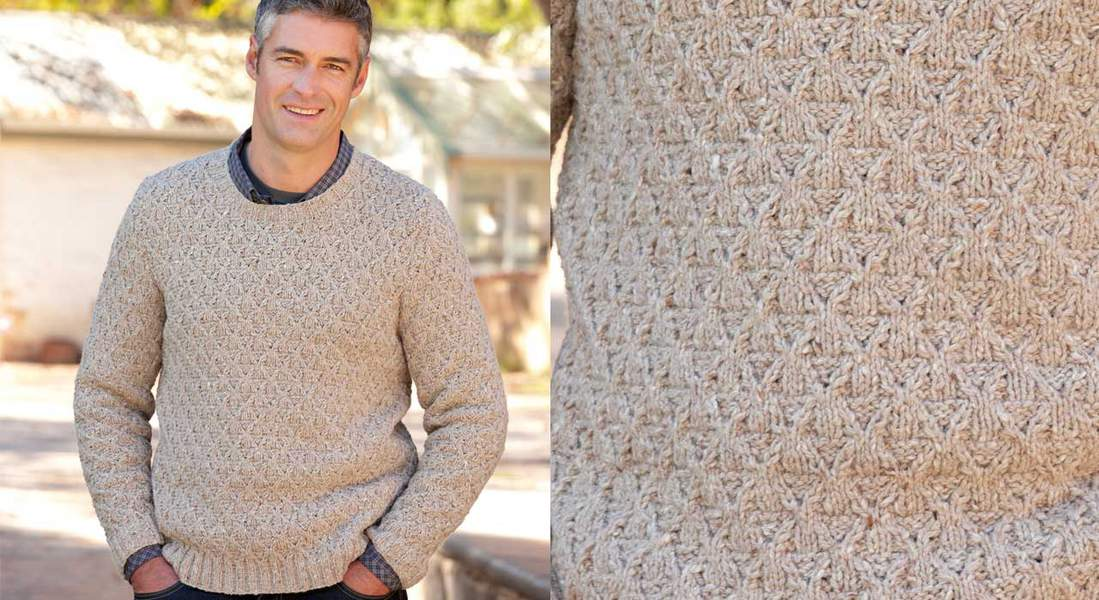 Point tricot pull homme