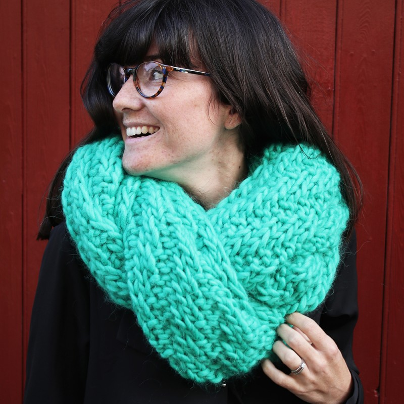 Kit tricot echarpe grosse maille