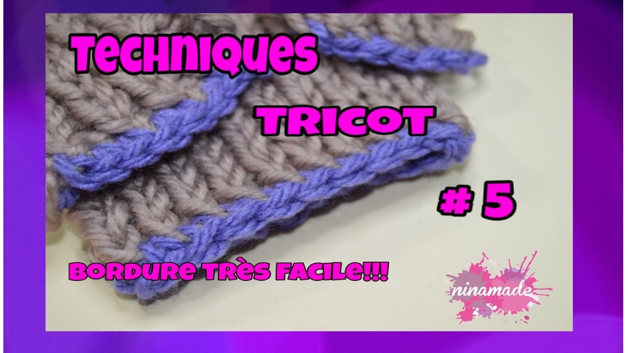 Tricot maille bordure