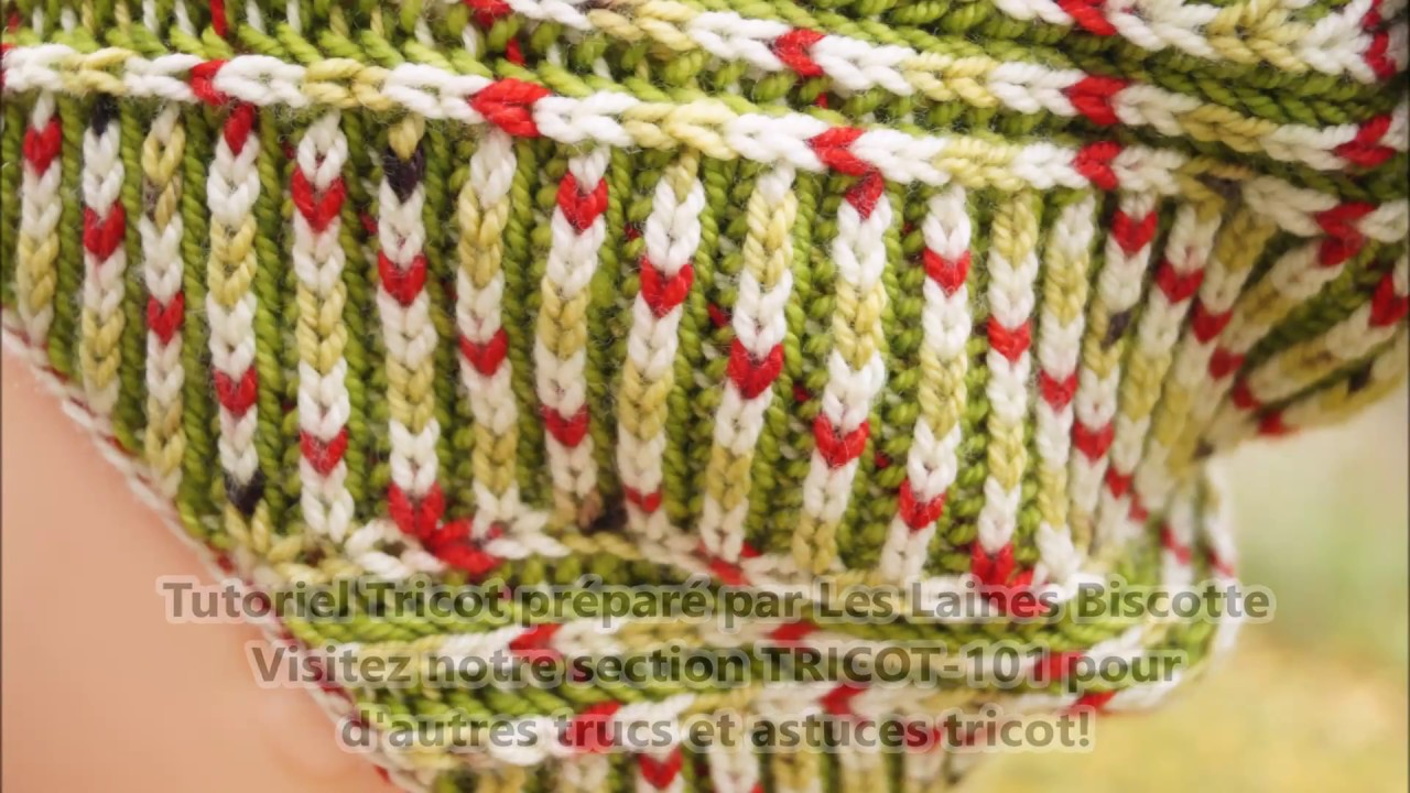 Tricot point brioche video
