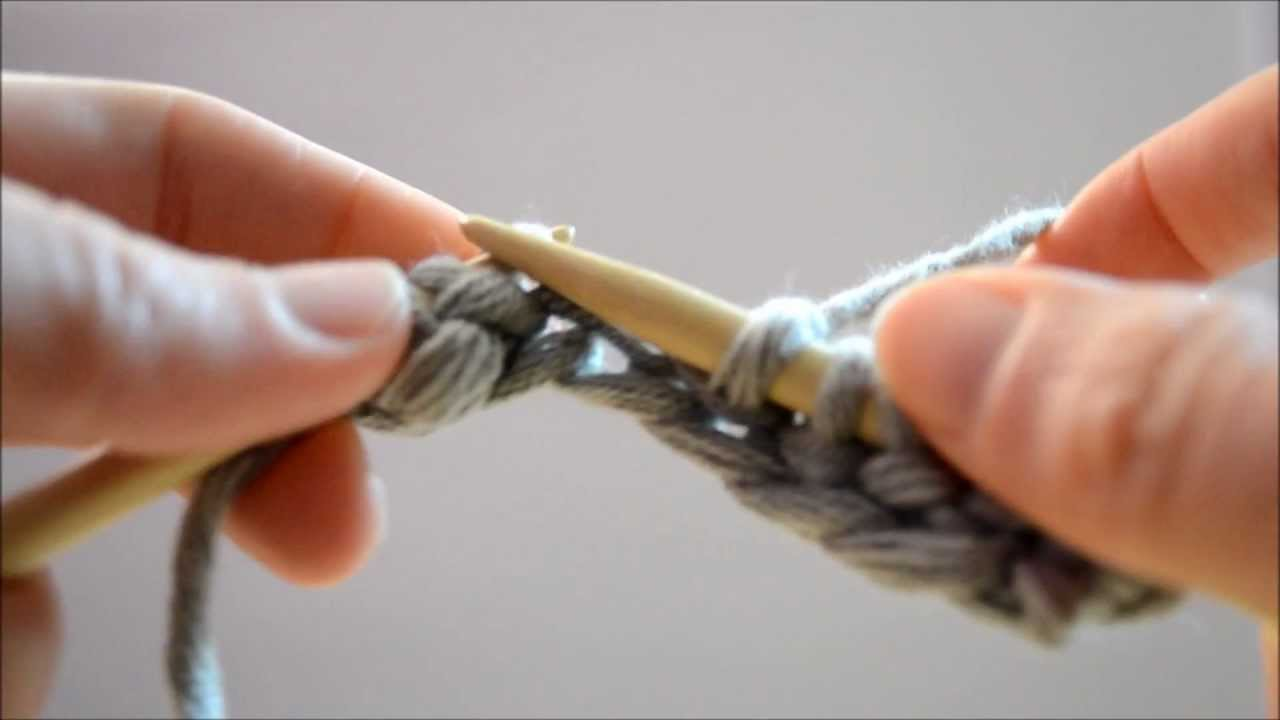 Tricot point mousse youtube