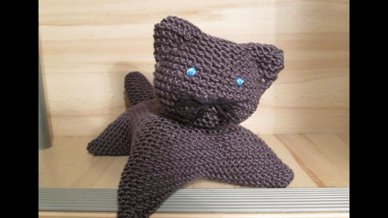 Chat tricot point mousse