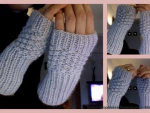 Tricot mitaine point de riz
