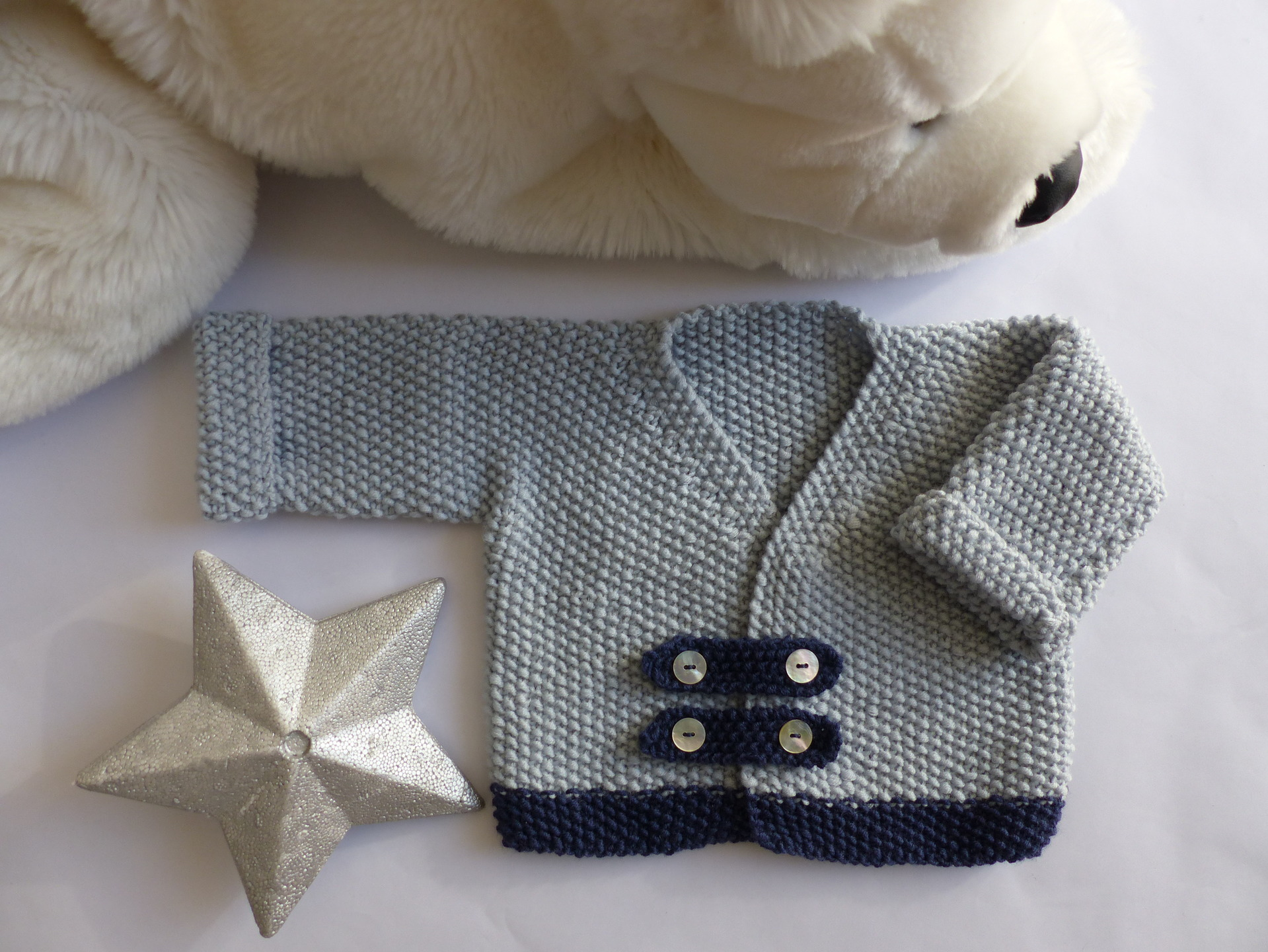 Tricot laine bebe fille