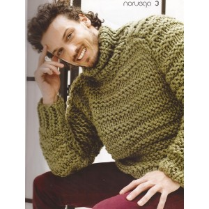 Crochet tricot pull homme