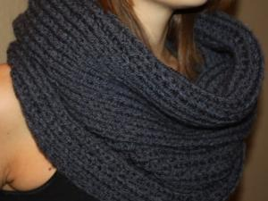 Modele snood long tricot