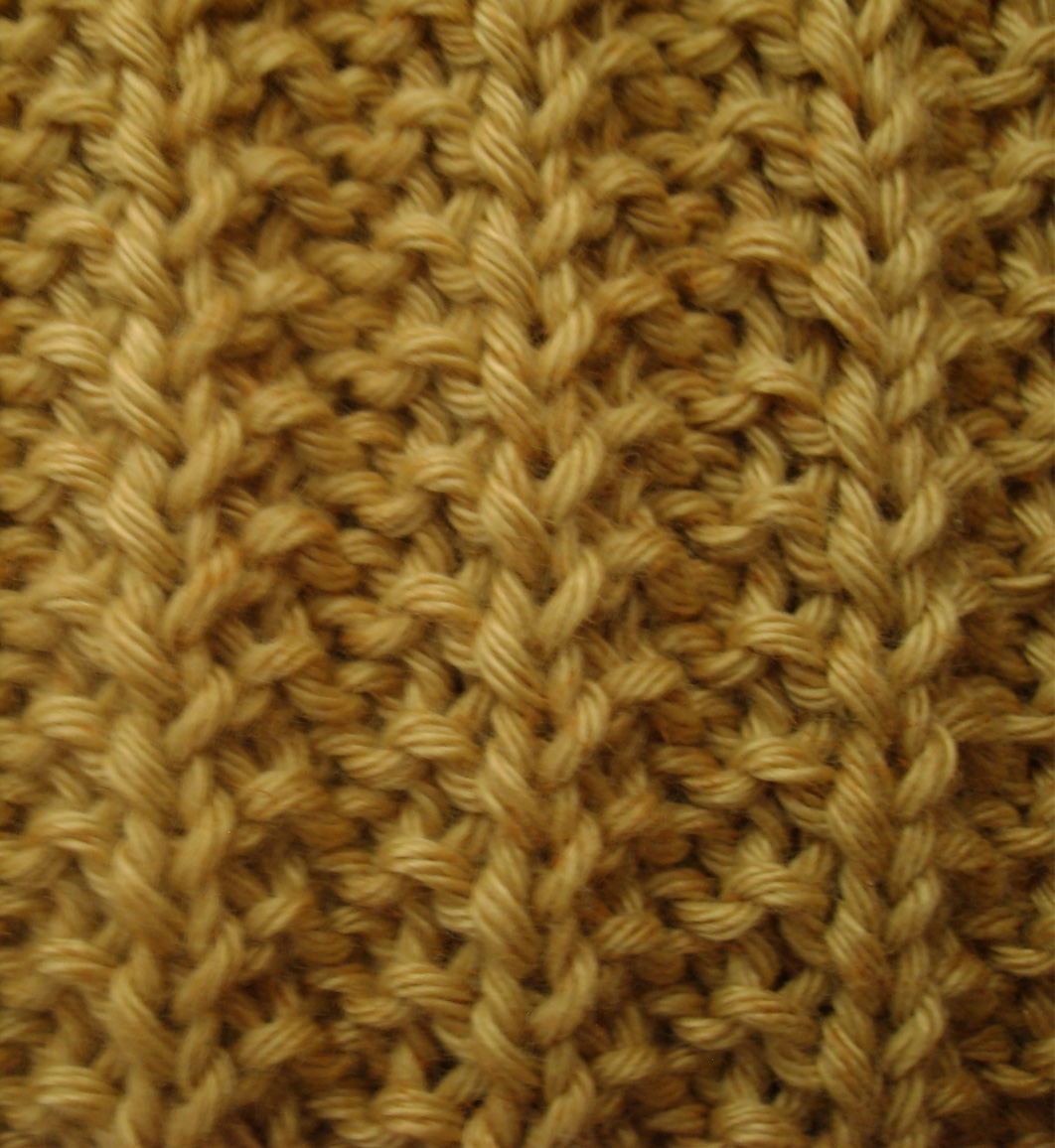Tricot point fausse cote anglaise