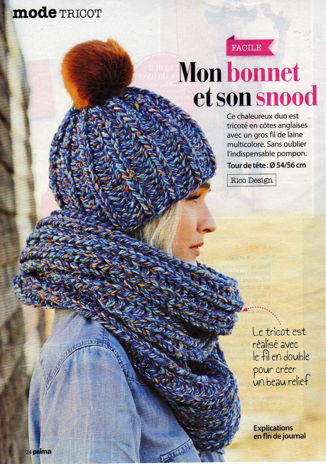 Tricot cote anglaise double