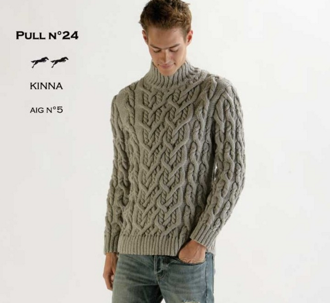 Tricot pull homme patron