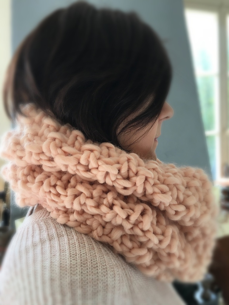 Tricot snood grosse maille