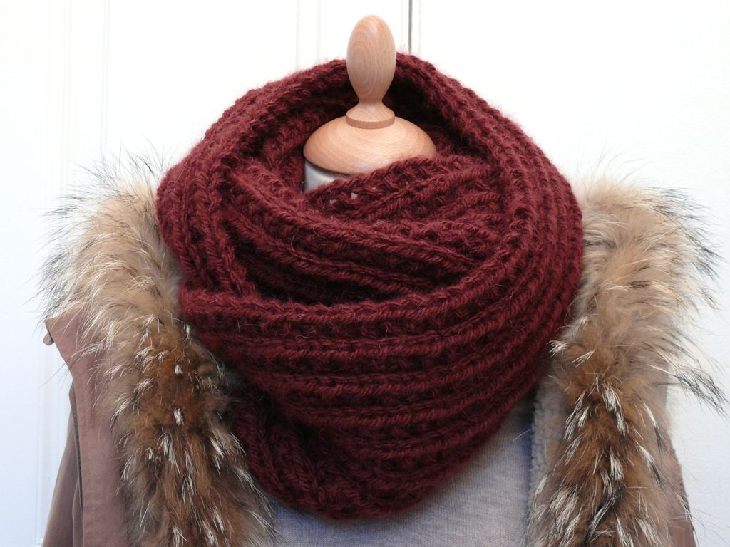 Tricot snood homme facile