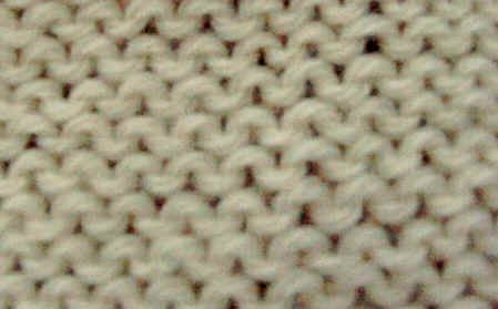Tricot maille jersey envers