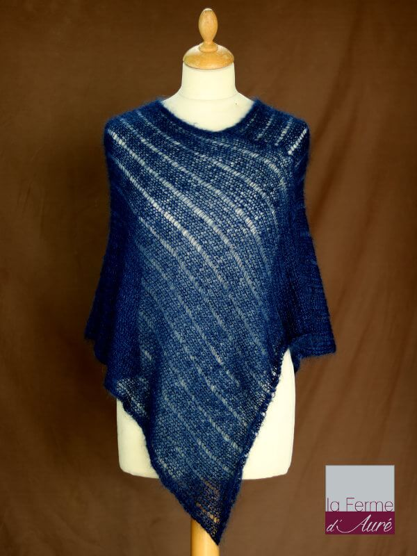 Tricot poncho mohair