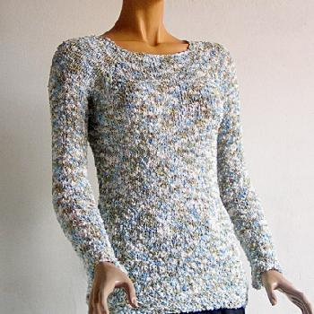 Pull tricot main femme