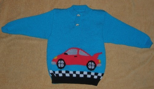 Modele tricot voiture