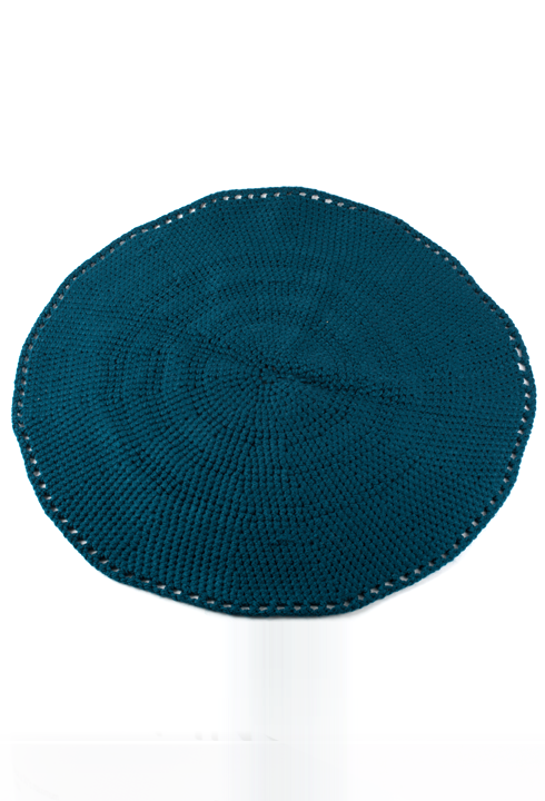 Tricot tapis rond