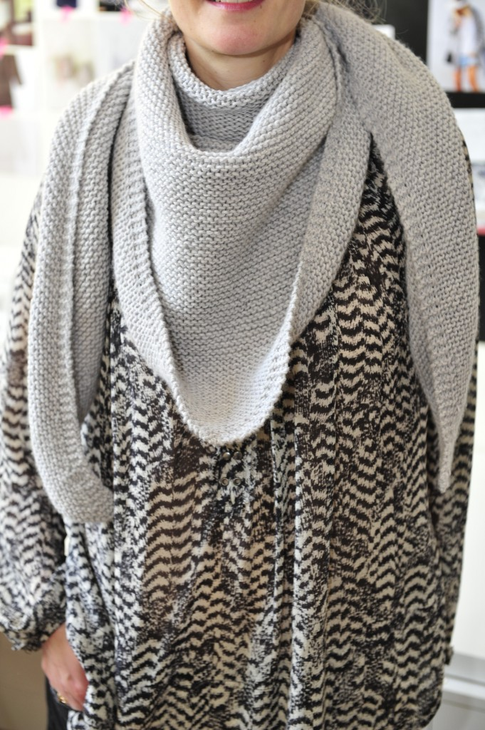 Tuto cheche tricot point mousse