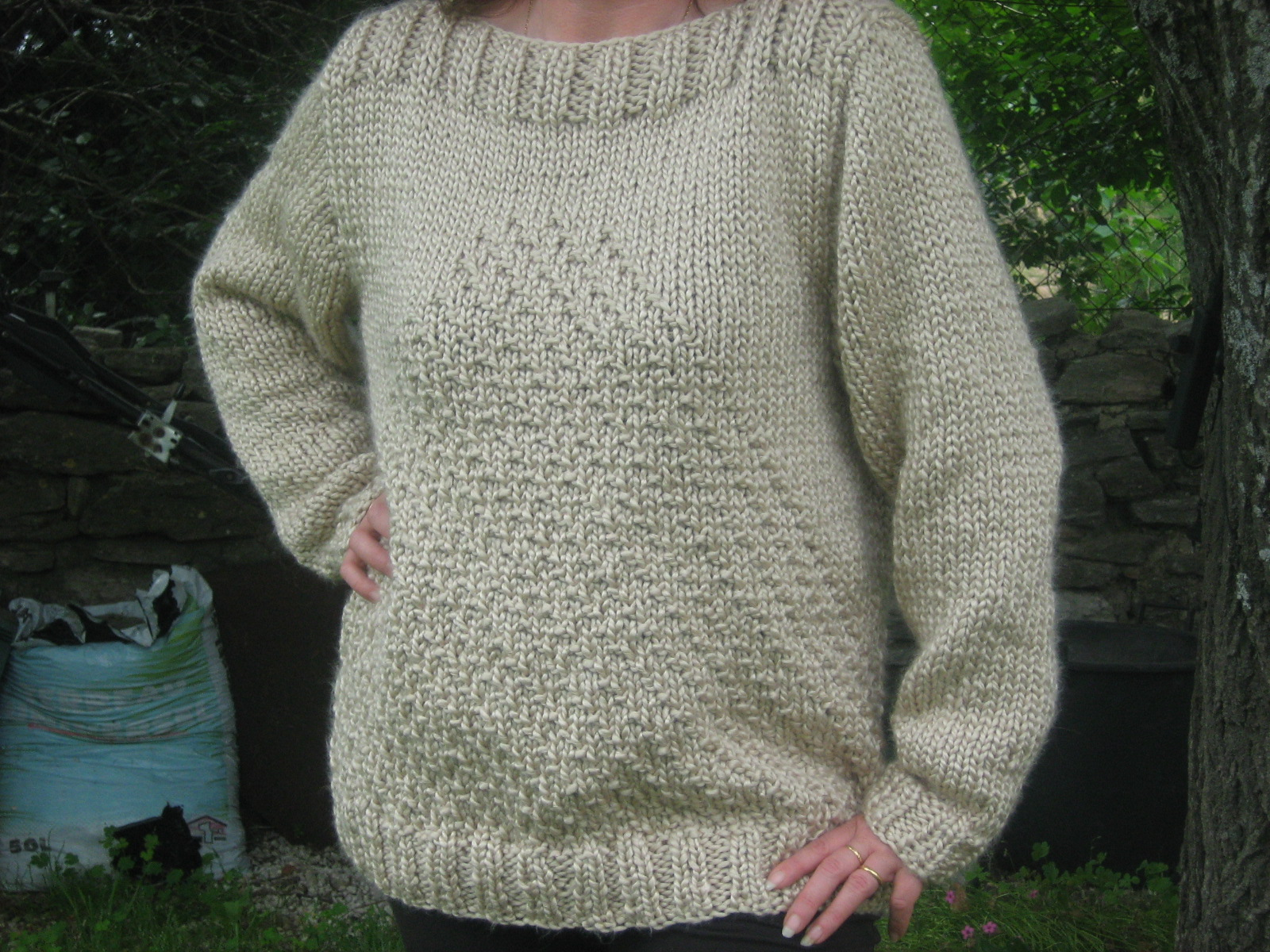 Tricot pull aiguille 10