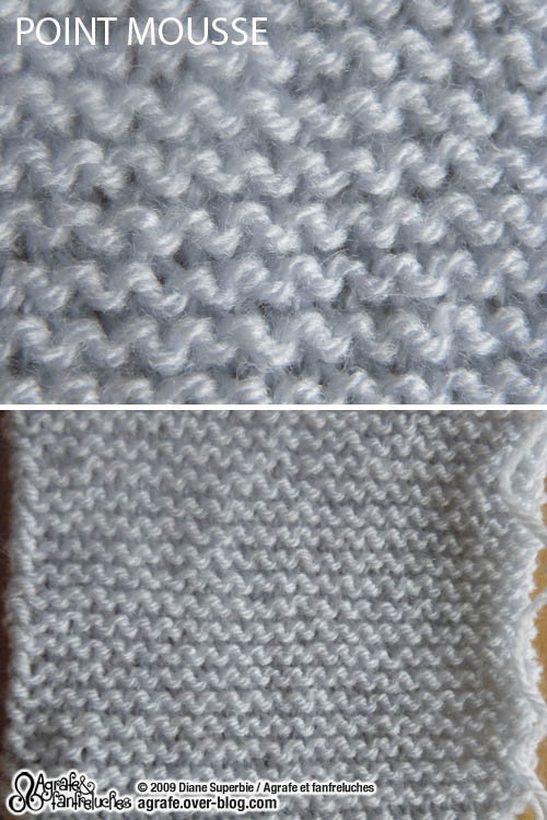 Tricot point endroit