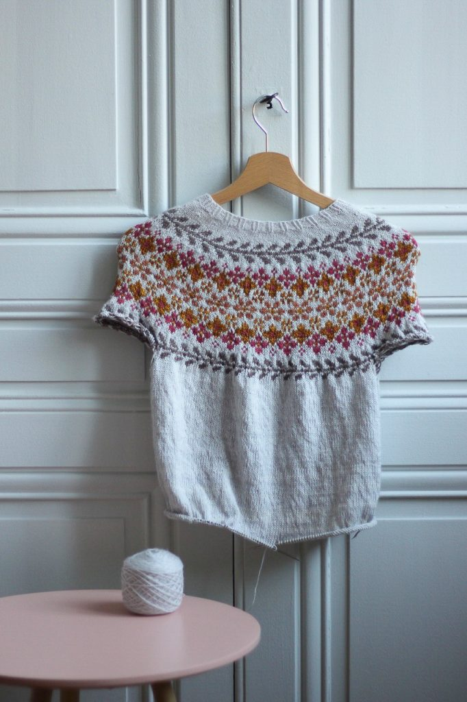 Tricot circulaire rayure