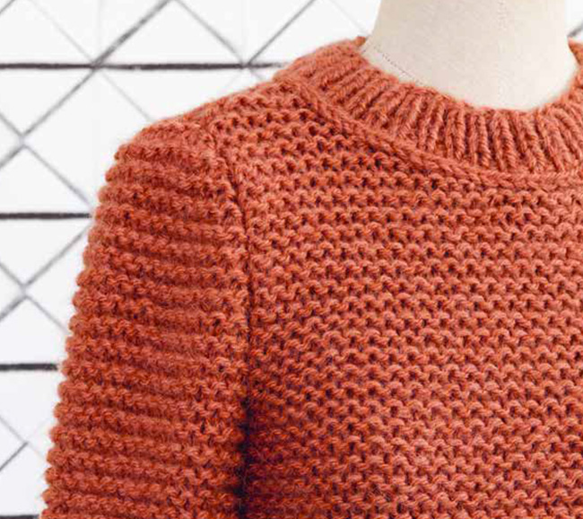 Tricot point mousse pull