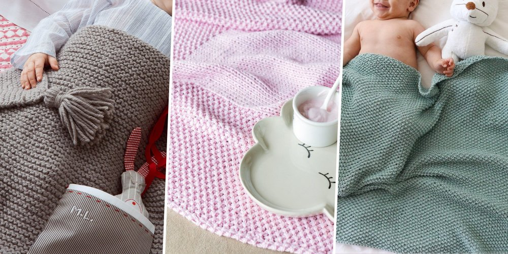 Couverture bebe tricot tissus