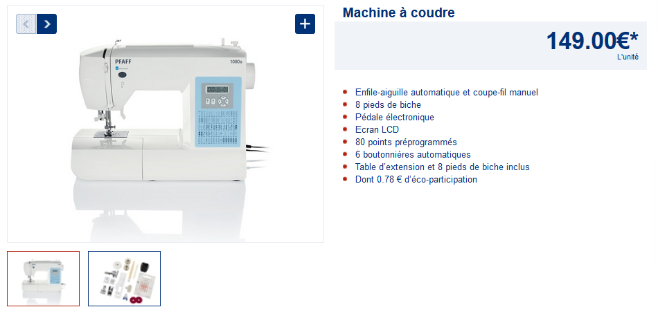 Machine a coudre 2017