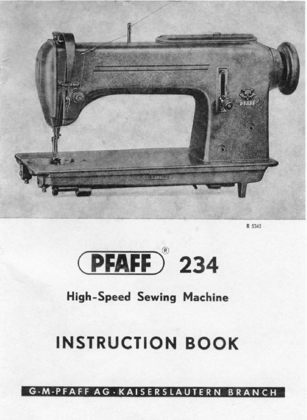 Notice machine a coudre pfaff hobby 541