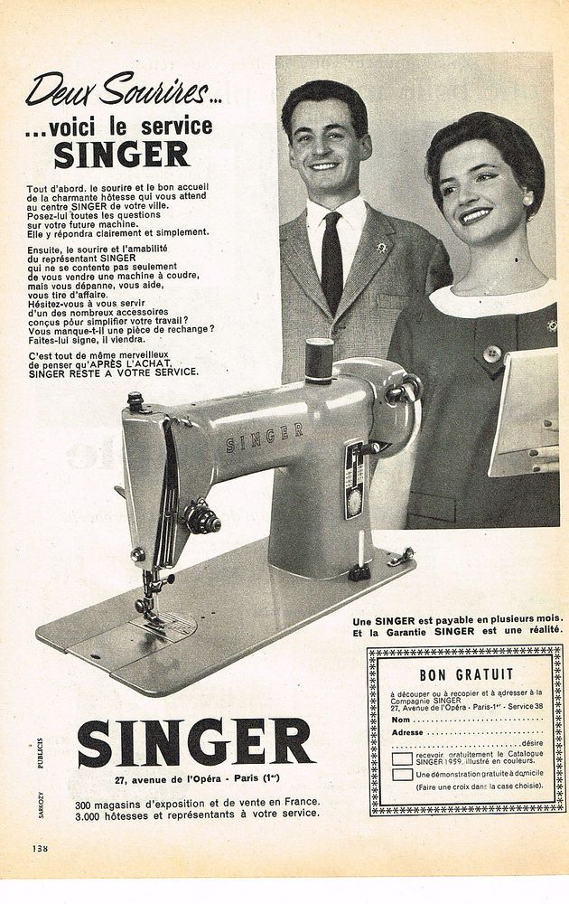 Singer machine a coudre collection