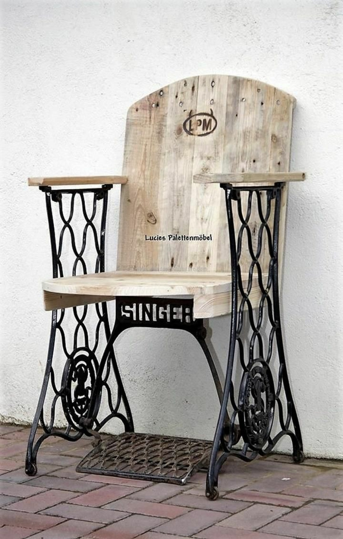 Idee deco vieille machine a coudre