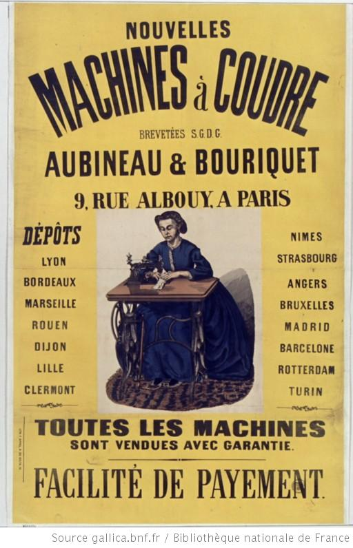 Affiche machine à coudre