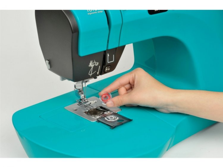 Machine a coudre turquoise